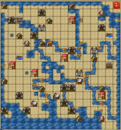 ワールドマップ荒野の洞窟